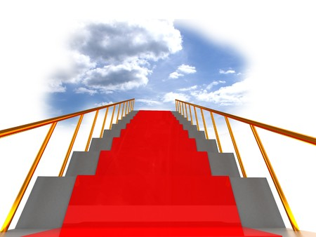 3d illustration of stairway to heaven illustration