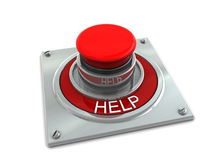 3d illustration of red button with text 'help' on it Stock Illustration - 4146553
