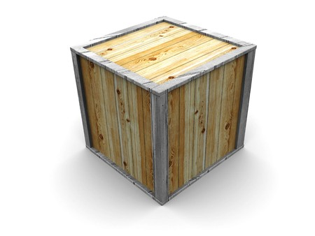 3d illustration of crate over white background Stock Illustration - 4146575