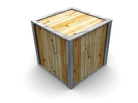 3d illustration of crate over white background Stock Illustration - 4146575