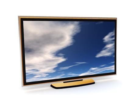 liquid crystal: 3d ilustraci�n moderna de televisi�n de cristal l�quido