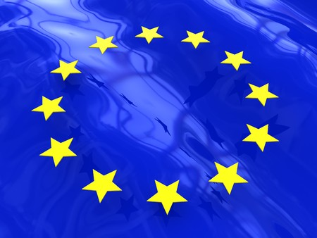 3d illustration of abstract background with european union symbols illustration