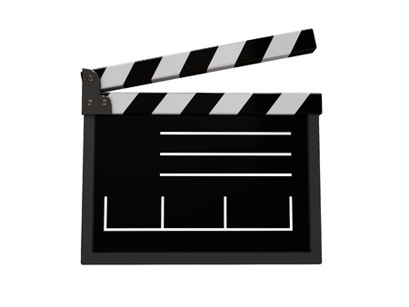 syncing: 3d illustration of film cut isolated over white