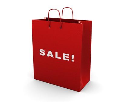3d illustration of shopping bag over white background illustration