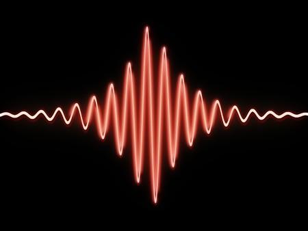 are sound: 3d illstration de ondas de sonido sobre fondo negro