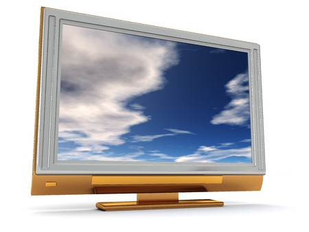 plasma tv over white background Stock Photo - 5871923