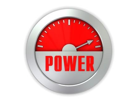 3d illustration of power meter isolated over white background illustration