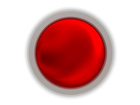 abstract 3d illustration of gloss red button over white background Stock Illustration - 4676172