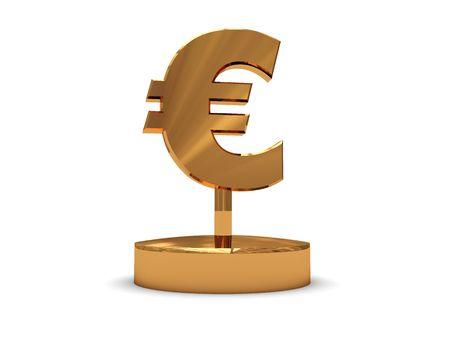 3d illustration of euro award or prize over white background illustration
