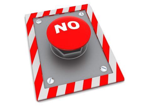 'no' button over white background Stock Photo - 5871934