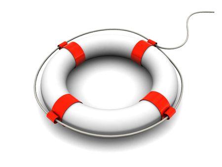 3d illustration of rescue circle over white background illustration