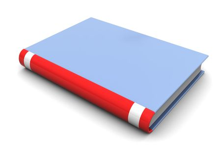 closed book: 3d illustration of generic book template, over white background Stock Photo