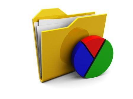 3d illustration of business folder icon or symbol illustration