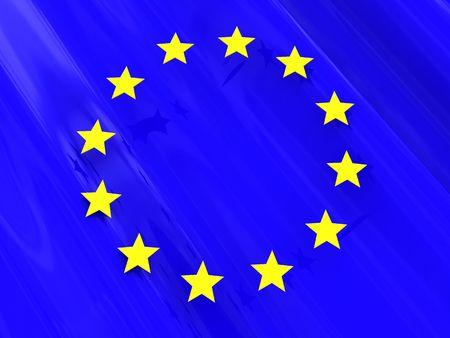 abstract 3d illustration of european union flag illustration