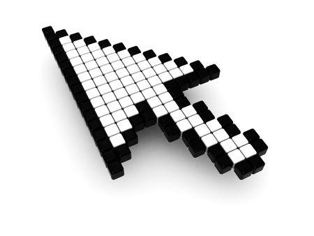 3d illustration of mouse cursor over white background Stock Illustration - 5138059