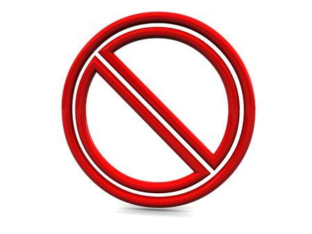 3d illustration of stop or danger symbol over white background illustration