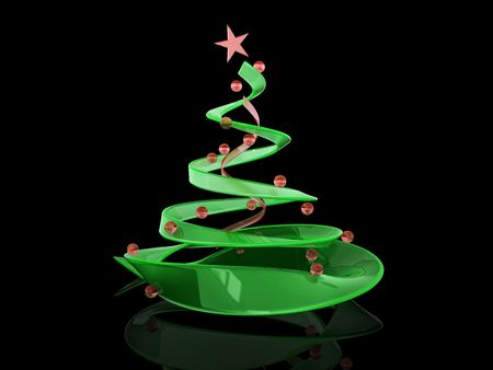 abstract 3d illustration of christmas tree Stock Illustration - 5871935
