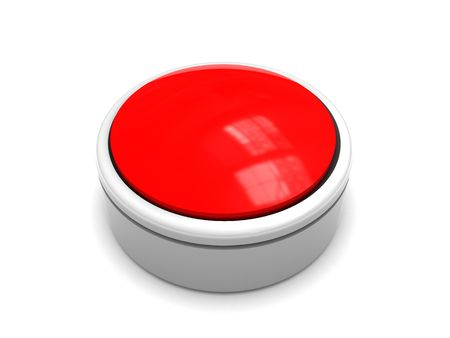 3d illustration of red button over white background Stock Illustration - 5921887