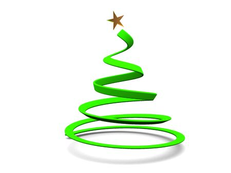 abstract 3d illustration of christmas tree over white background illustration
