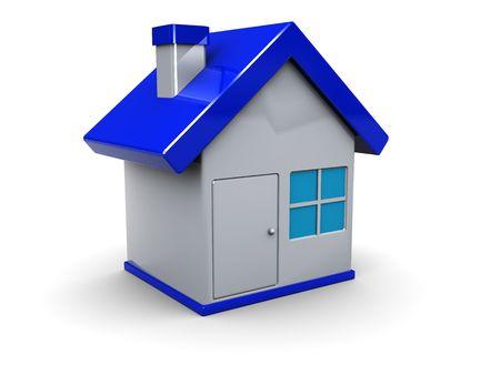 3d illustration of home symbol or icon over white background Stock Illustration - 6304876