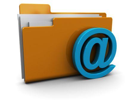 3d illustration of mail folder icon or symbol, over white background Stock Illustration - 6382546