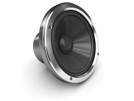 orador: Ilustraci�n 3D de altavoz audio gen�rico sobre fondo blanco