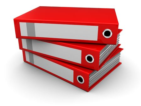 ring binder: 3d illustration of folders Stock Photo