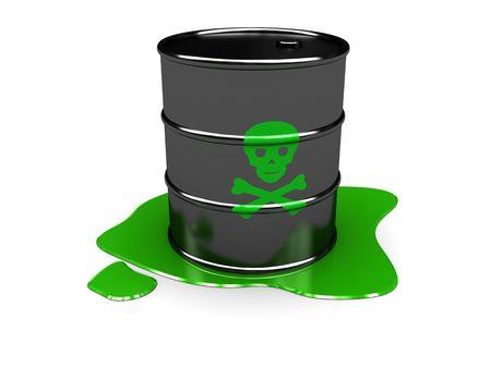 3d illustration of toxic barrel over white background Stock Illustration - 6566254