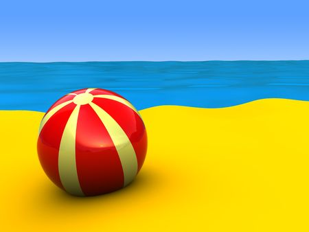 marge: 3d illustration of beach Stock Photo