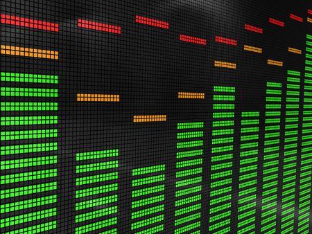 3d illustration of music equalizer display background Stock Illustration - 6602257