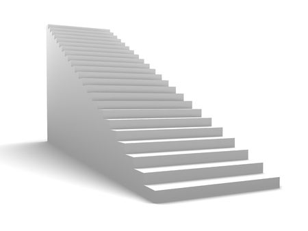 3d illustration of generic stairway over white background illustration