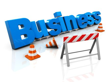 3d illustration of business under construction concept Stock Illustration - 6754607