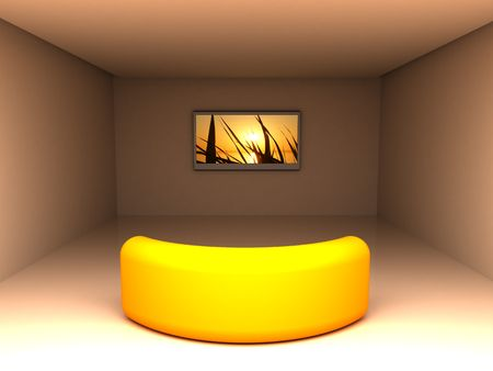 home cinema: 3d illustration of home theater