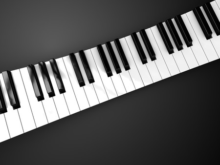 3d illustration of piano keyboard background Stock Illustration - 6895075