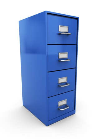 3d illustration of documents shelf over white background illustration