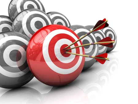 target business: Ilustraci�n 3d abstracta del concepto de derecho de destino