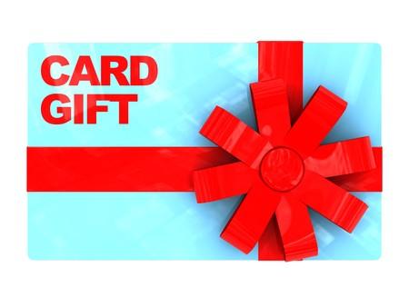 3d illustration of plastic gift card, over white background Stock Illustration - 7022245