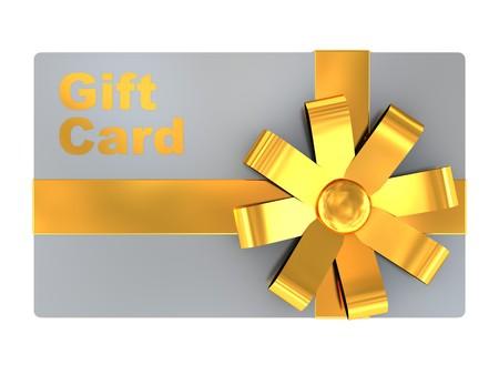 3d illustration of gift card, isolated over white background Stock Illustration - 7022239
