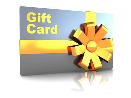 3d illustration of gift plastic card over white background Stock Illustration - 7080641