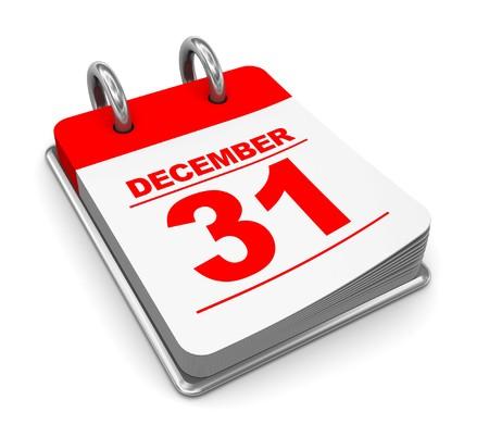 3d illustration of calendar over white background illustration