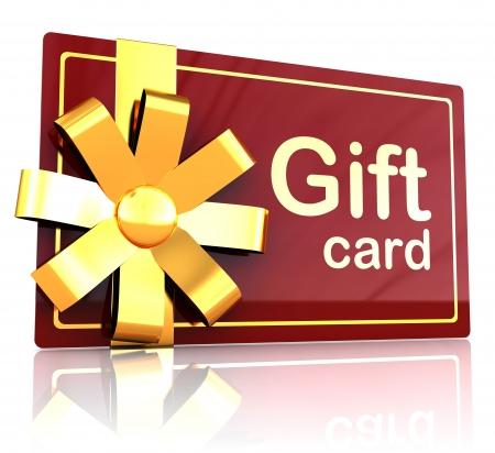 3d illustration of gift plastic card over white background illustration