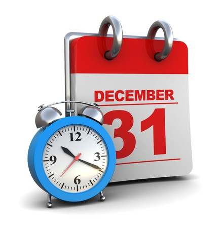 3d illustration of calendar with alarm clock, over white background illustration
