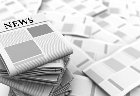 informait: R�sum� illustration 3d de fond grise journaux