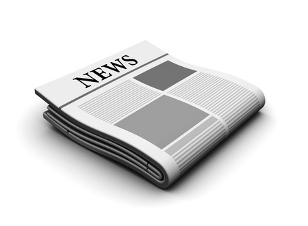 article icon: 3d illustration of newspaper icon over white background