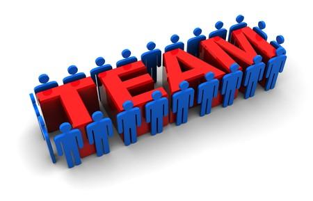 3d illustration of team symbol, over white background Stock Illustration - 8077736