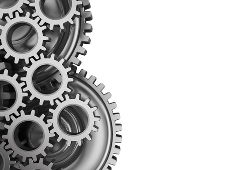 copy machine: abstract 3d illustration of gear wheels background