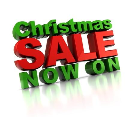 3d illustration of Christmas sale sign, over white background Stock Illustration - 8534556