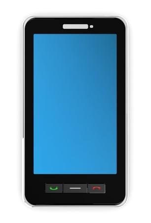 visual perception: 3d illustration of modern mobile phone Stock Photo