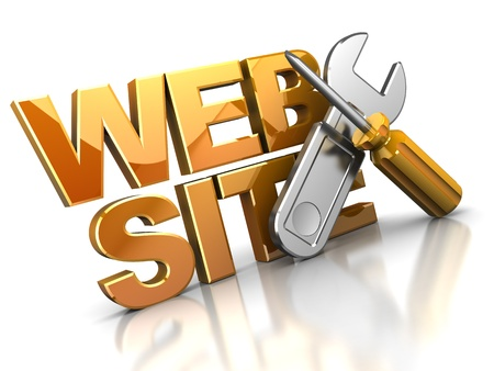 3d illustration of web design icon or symbol Stock Illustration - 9187185