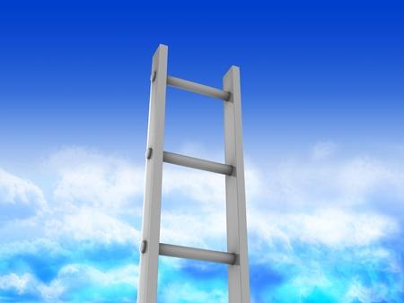 endlos: 3d illustration of ladder in heaven